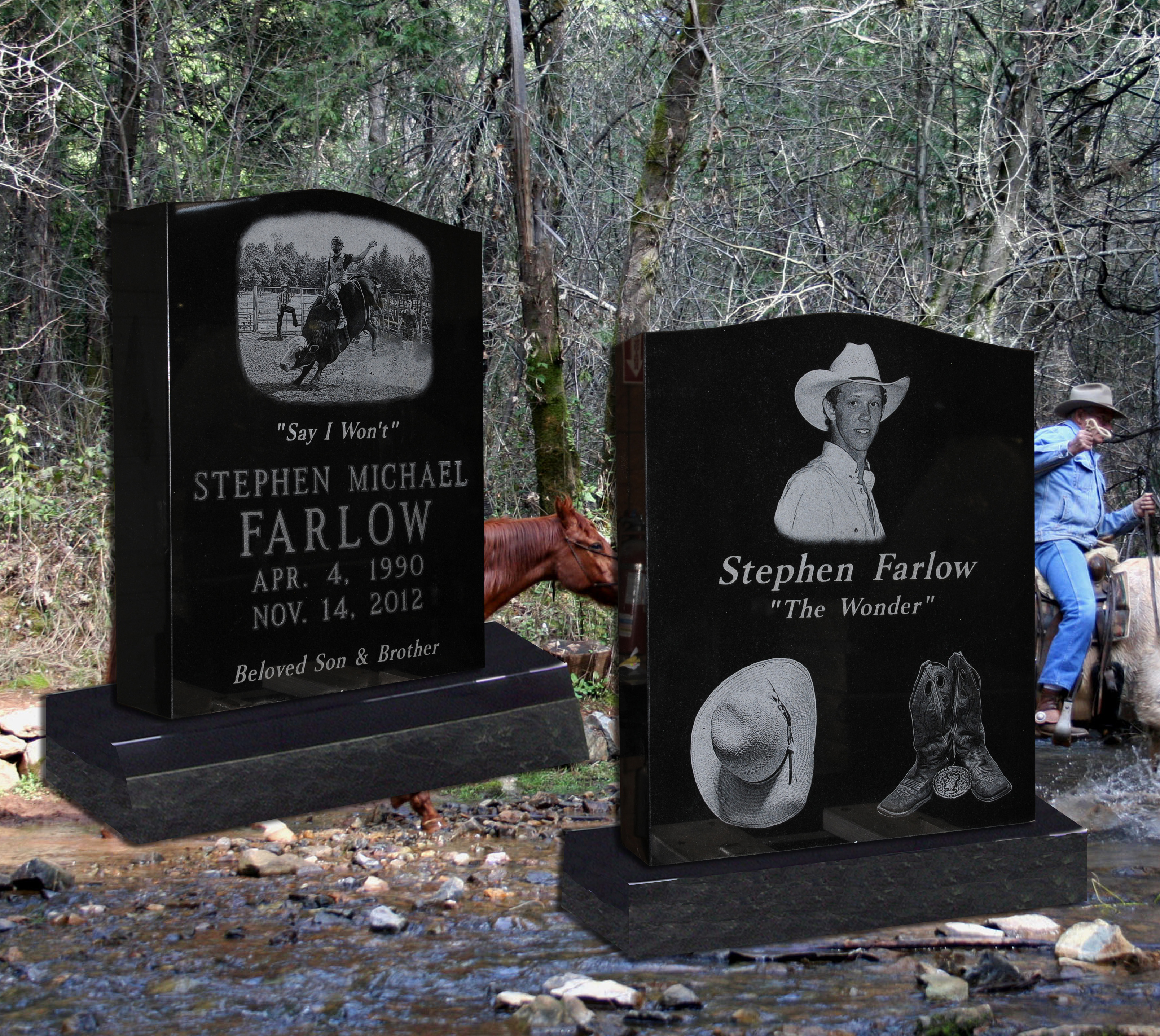 Eagle Granite Etched Monuments